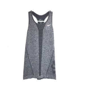 Nike Gray Workout Tank With Floral Detail